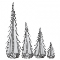Simon Pearce Glass Evergreen Trees