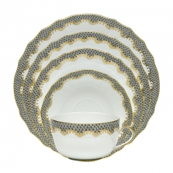 Herend Fishscale Gray Dinnerware