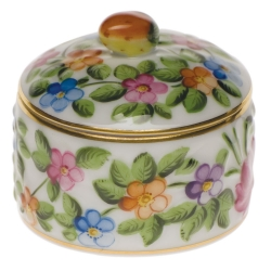 Round Relief Box with Berry