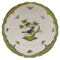 Herend Rothschild Bird Green Border Dinnerware