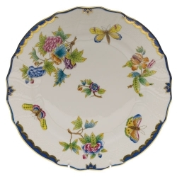 Herend Queen Victoria Blue Border Dinnerware