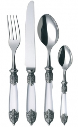 Alain Saint Joanis Azalee Crystal Resin Stainless Flatware