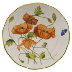 Herend American Wildflower- California Poppy Dinnerware