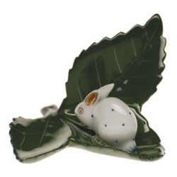 Herend Rabbit On Leaf