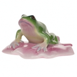 Herend Frog On Lily Pad