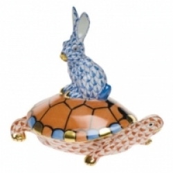 Herend Small Tortoise & Hare- 1