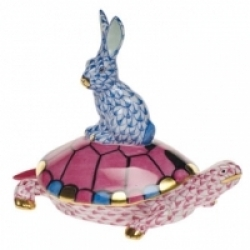 Herend Small Tortoise & Hare- 4