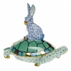 Herend Small Tortoise & Hare- 5
