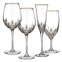Waterford Lismore Essence Gold Stemware Gien China