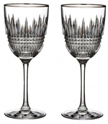 Waterford Lismore Diamond Platinum Stemware