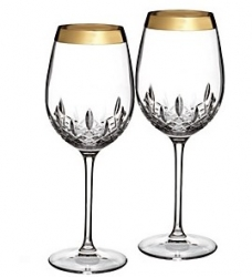 Waterford Lismore Essence Wide Band - Gold Stemware