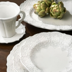 & Arte Italica Merletto White dinnerware