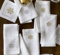Sferra Holiday Cocktail Napkins