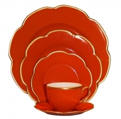 Royal Limoges Corolle Red