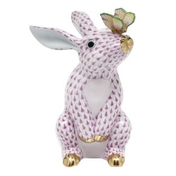Herend Bunny w/ Butterfly