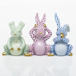 Herend Three Wise Bunnies