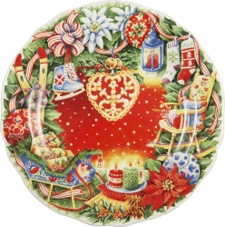 2017 Gien Holiday Plates