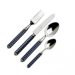 Alain Saint Joanis Maya Dark Blue Silverplate Flatware