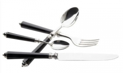 Alain Saint Joanis Seville Silverplate Black Flatware