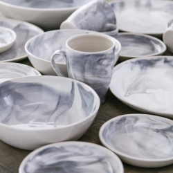 Simon Pearce Marble Stratus Dinnerware Collection