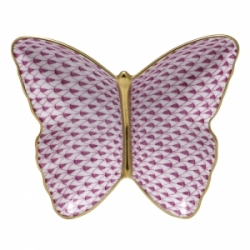 Herend Fishnet Butterfly Dish