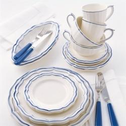 Gien FiIets BIeu_Gien China_Gien Filet Bleu Dinnerware