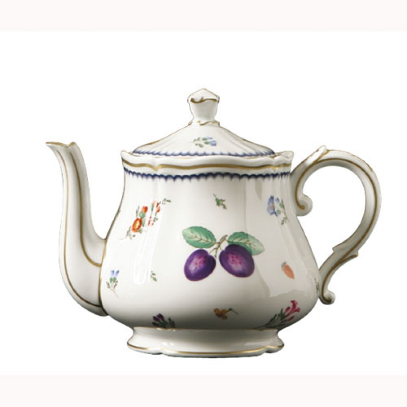 Richard Ginori Italian Fruit Teapot W Cover