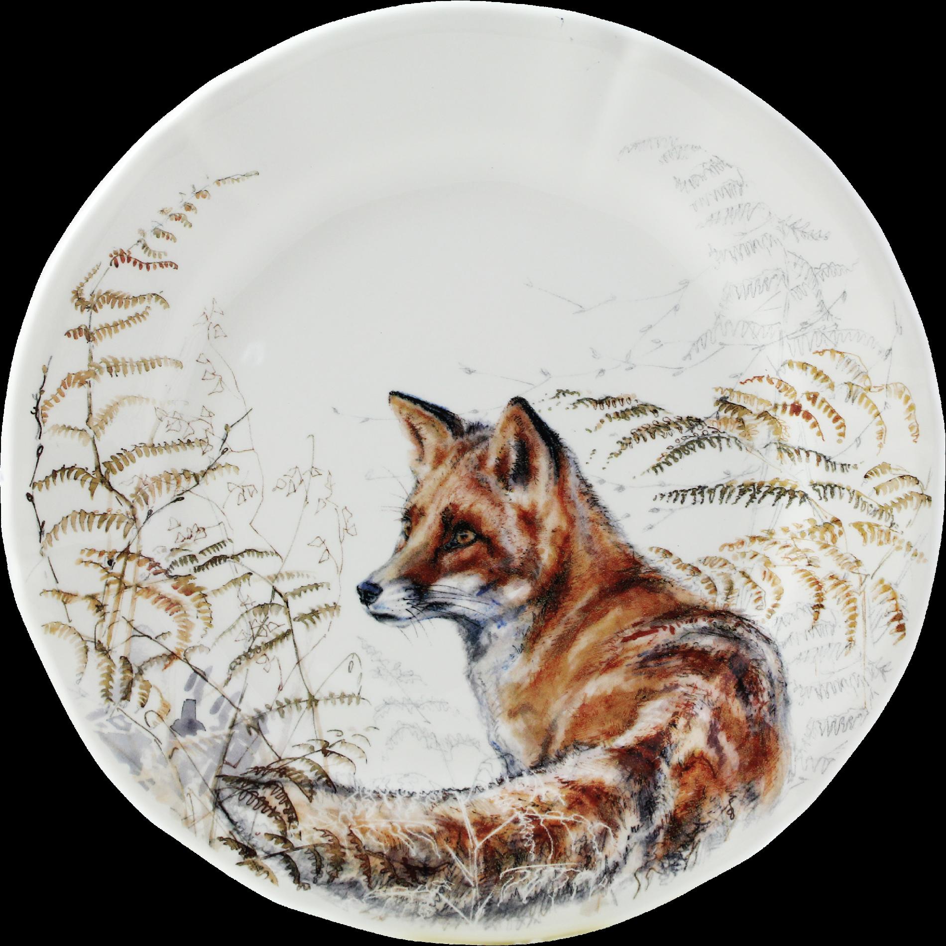 Gien Sologne Fox Dessert Plate Fox Dessert Plate