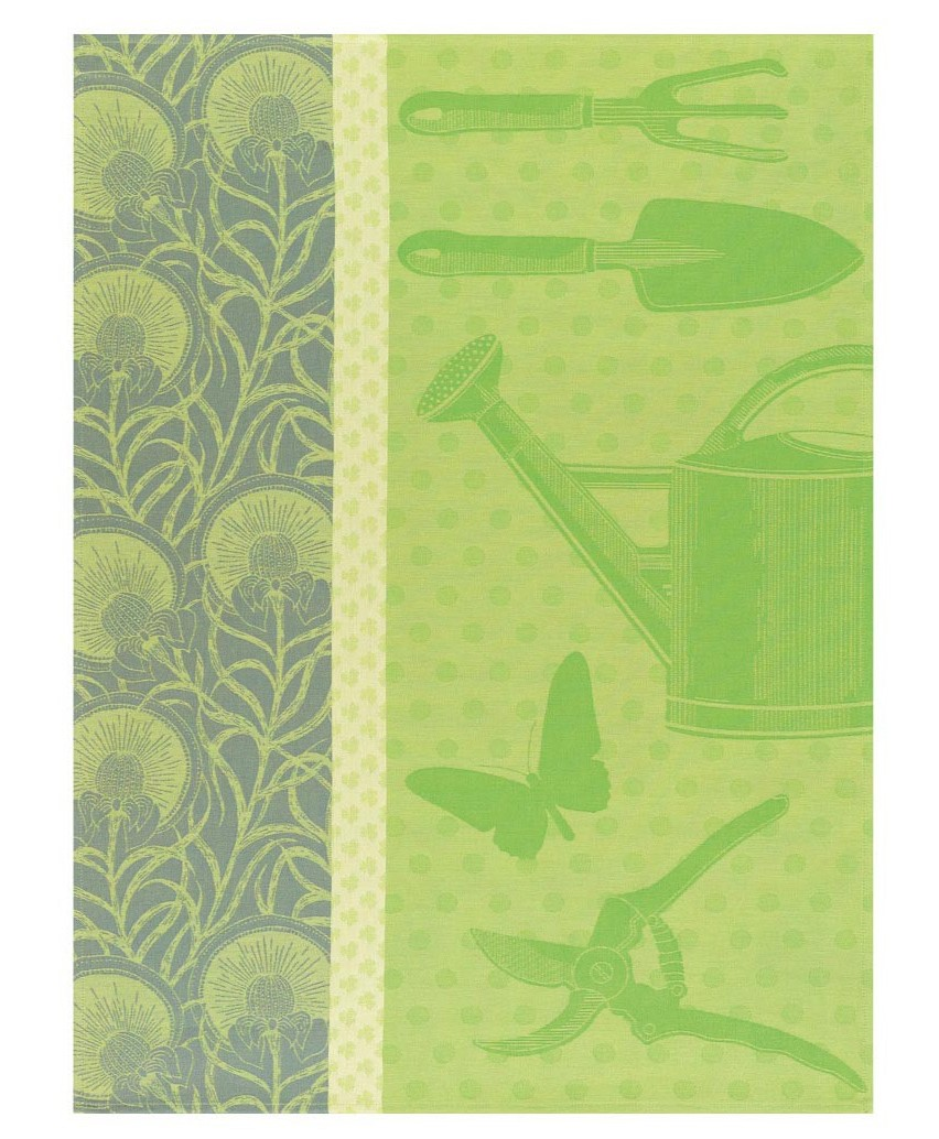Le jacquard francais au jardin tea towel shoot green set 4 for Jardin francais