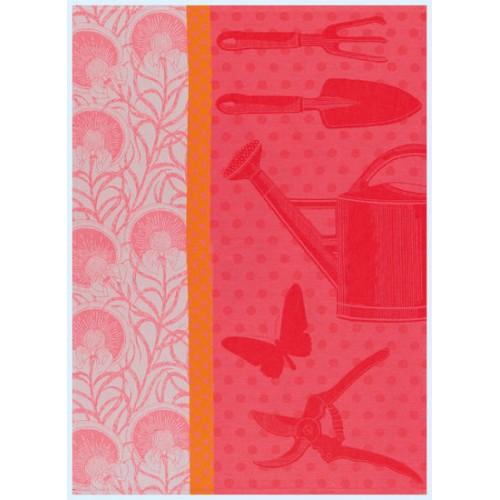 Le jacquard francais au jardin tea towel poppy set 4 for Jardin francais