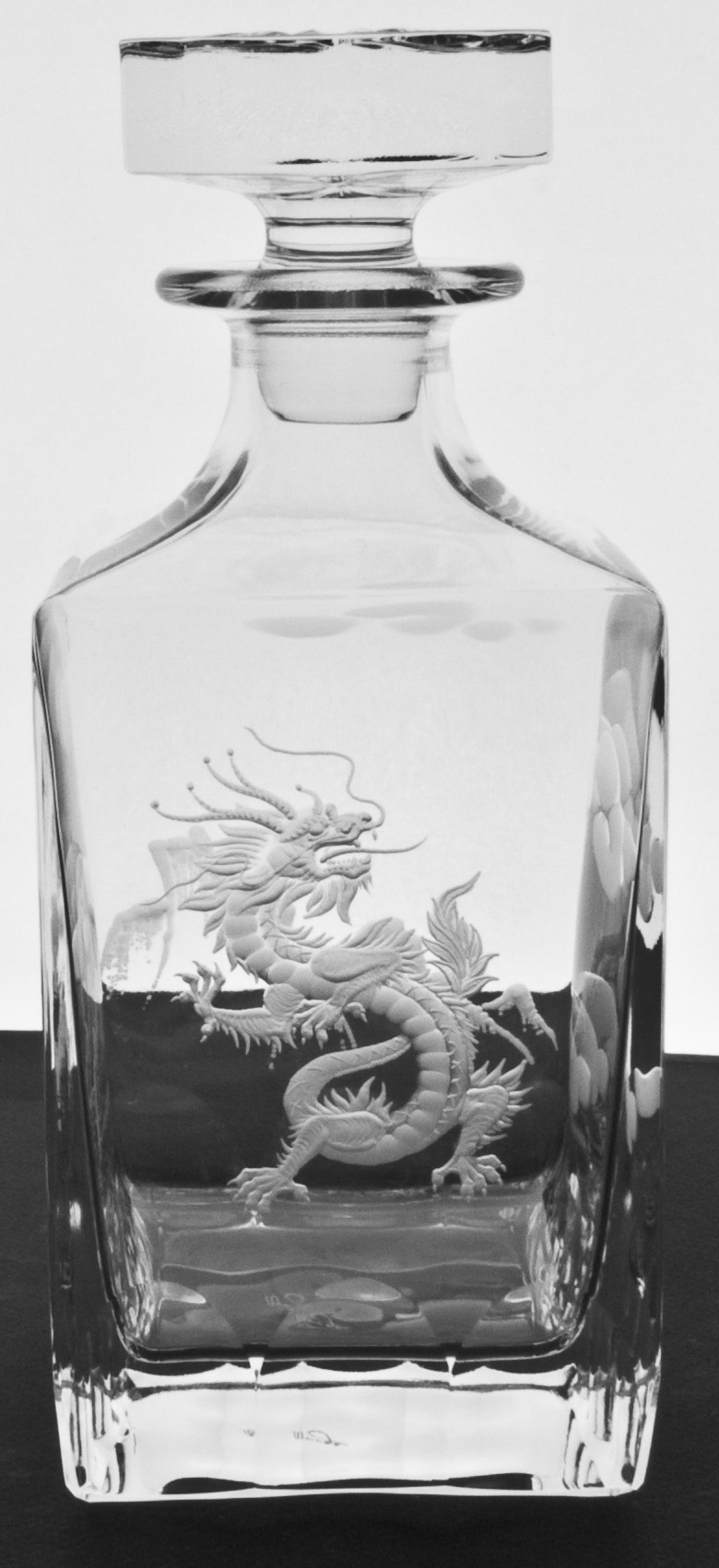 Varga Crystal Dragon Clear Whiskey Decanter