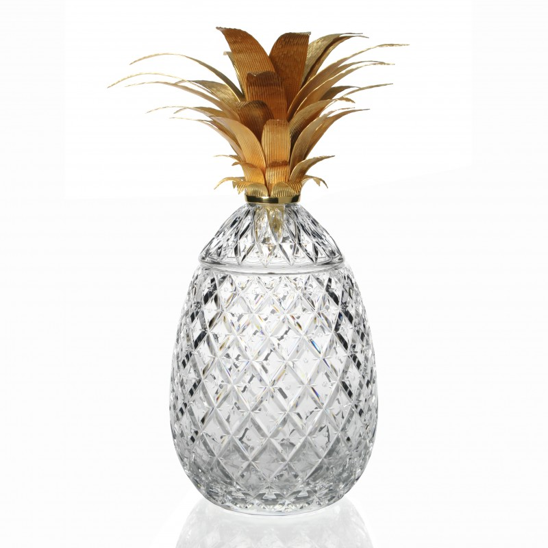 Wiliiam Yeoward Isadora Gold Pineapple Centerpiece 11inch