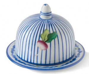 Potager Blue Butter Dish