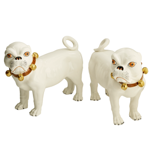 Mottahedeh Bulldogs w/ Brown Collar - Pair