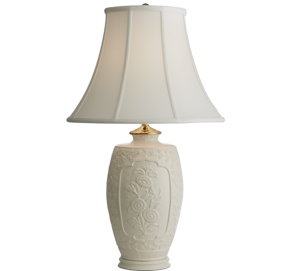 Mottahedeh Creamware Chinese Bouquet Lamp