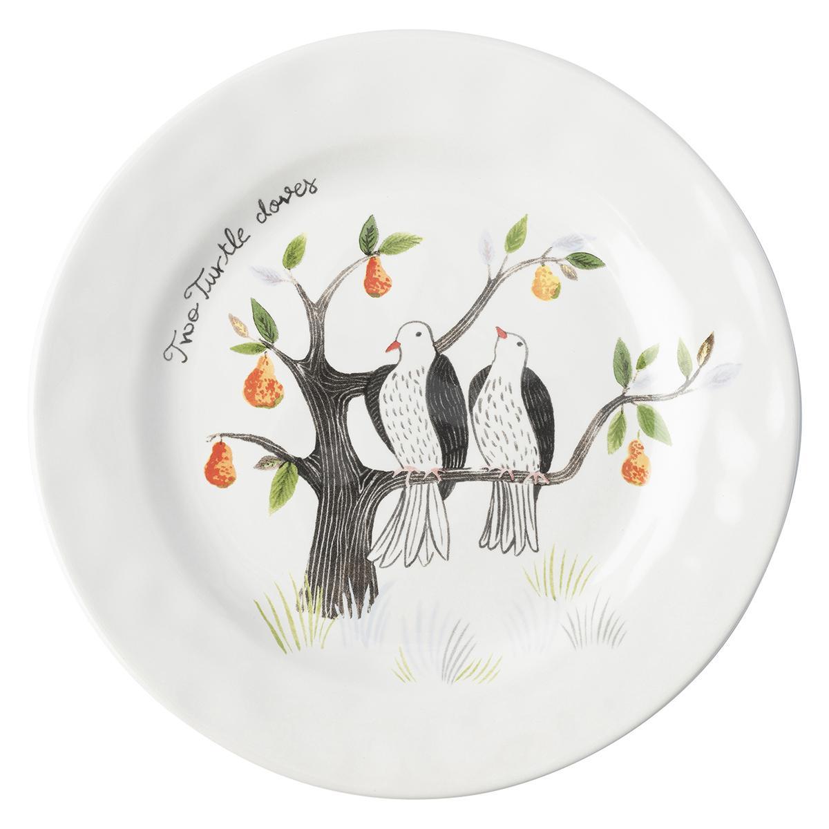 Juliska 12 Days of Christmas Dessert/Salad Plate Set/12