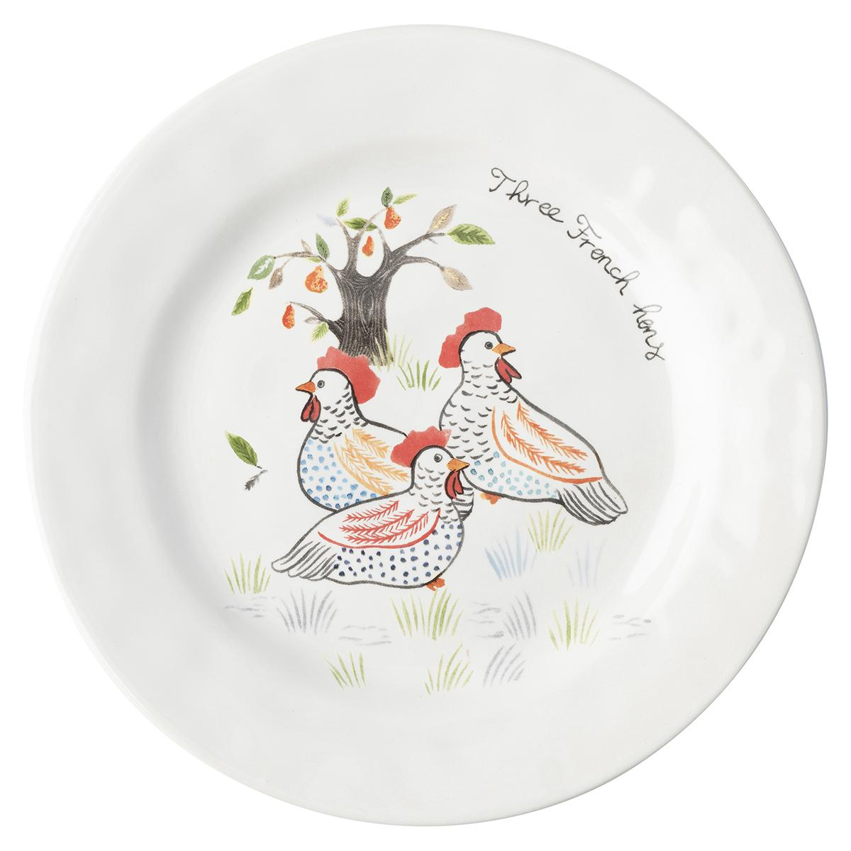 Juliska 12 Days of Christmas Dessert/Salad Plate Set/12