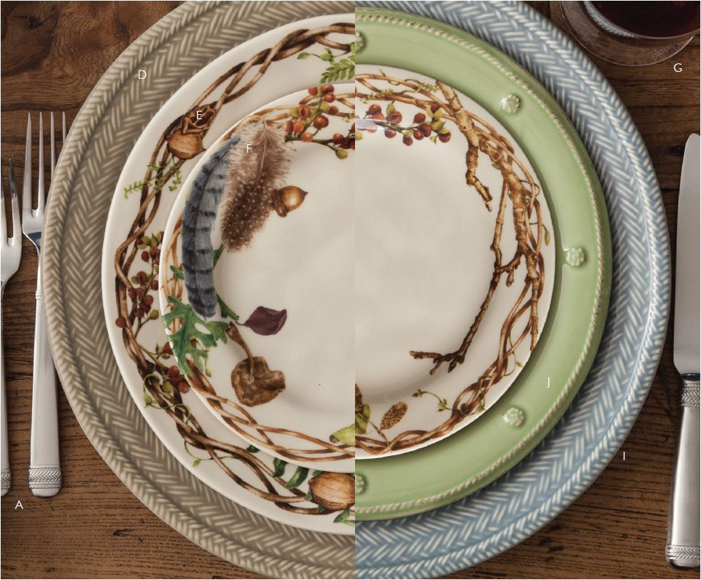 & Juliska Forest Walk Dinner Plate