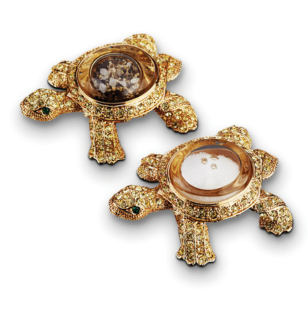 Turtle Spice Jewels Gold Yellow Crystals
