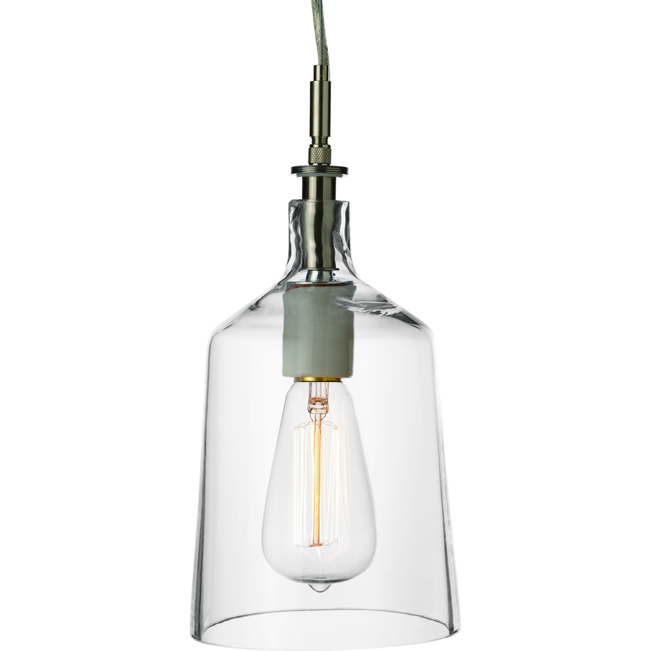 simon pearce cabot glass pendant light small