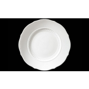 Museo White Round flat plate