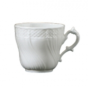 Vecchio Ginori White Large Coffee Cup - 7oz.