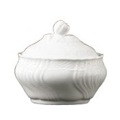 Vecchio Ginori White Small Coffee Sugarbowl w/Cover 7 oz.