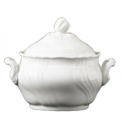 Vecchio Ginori White Medium Tea Sugarbowl w/cover