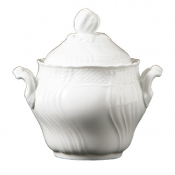 Vecchio Ginori White Coffee Sugar Bowl w/Cover 17 oz.