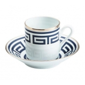 Labirinto Blue Espresso Coffee Saucer - Import Item