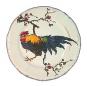 Grands Oiseaux Dinner Plate - Rooster ( Coq )
