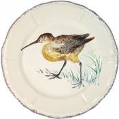 Grands Oiseaux Dinner Plate - Woodcock  (Becasse)
