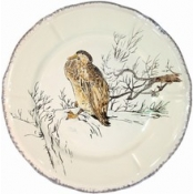 Grands Oiseaux Dinner Plate - Geese ( Oies Cendrees )