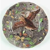 Rambouillet Canape Plate - Woodcock Flying - Custom Order Item*